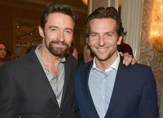 Hugh Jackman and Bradley Cooper at the @BAFTA LA Awards Season Tea Party 2013 held at Four Seasons Hotel Los Angeles at Beverly Hills