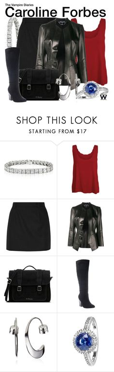 """The Vampire Diaries"" by wearwhatyouwatch ❤ liked on Polyvore featuring WearAll, Yves Saint Laurent, Alexander McQueen, Dr. Martens, Nicole, Kenneth Cole, RenéSim, television and wearwhatyouwatch"