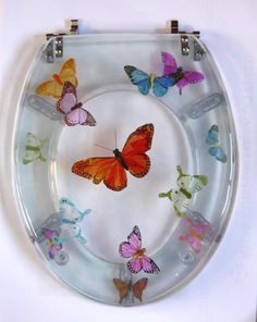 Resin toilet seat, Butterfly