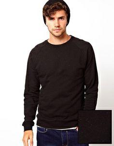 ASOS Sweatshirt With Flecked Detail