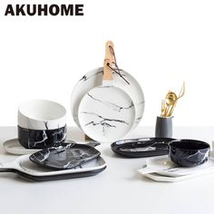 Aliexpress.com : Buy European Marble Tableware Ceramic Tableware Dish Face Plate Platter Bow Cutter Board from Reliable tableware dish suppliers on AKUHOME Intelligent Store