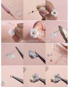 67 Ideas for knitting accessories diy link Crochet Puff Flower, Crochet Flower Patterns, Crochet Flowers, Diy Jewelry, Jewelery, Handmade Jewelry, Crochet Christmas Gifts, Crochet Gifts, Yarn Flowers