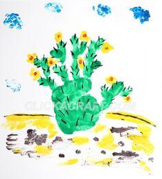 HANDPRINT AND FINGERPRINT cactus