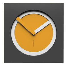 10-022-Q62C01B03O01M62 Wall clock KAM  - Do you like this color scheme? Melon, white and quartz grey. Have fun creating your own #wallclock