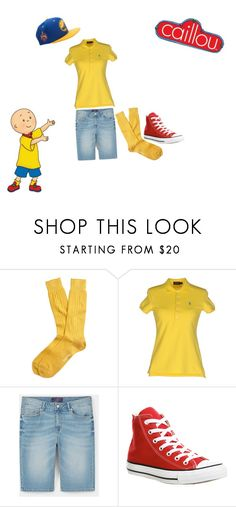 """""""Tv/Video game challenge day 1(Caillou)"""" by chibiblue ❤ liked on Polyvore featuring Brooks Brothers, Polo Ralph Lauren, MANGO, Converse and Mitchell & Ness"""