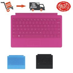 Microsoft Surface Pro 2 Type Cover Keyboard  Magenta Black Charcoal Cyan Mage #Microsoft