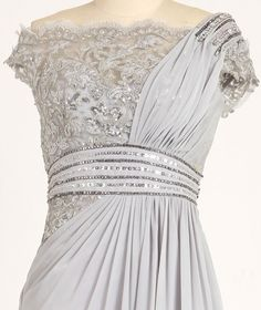 grey lace beaded dress  #topshoppromqueen