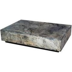 Pewter Cocktail and Coffee Table, Made from Pewter on Steel