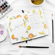 Monthly spread in my bullet journal * bujo monthly * monthly Bullet Journal Monthly Spread, Bullet Journal 2019, Bullet Journal Ideas Pages, Bullet Journal Layout, Bullet Journal Inspiration, Bujo Monthly Spread, Illustration Blume, Watercolour Illustration, Journal Covers