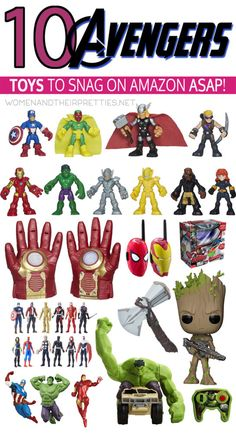Avengers: Infinity War is going to be the most epic Marvel movie to hit the big screen in quite some time! With that said, Avengers toys are flying off the shelves and selling out in stores everywhere. I've gathered the best Avengers toys I could find on Amazon so you can grab them while you can. via @JoyceDuboise