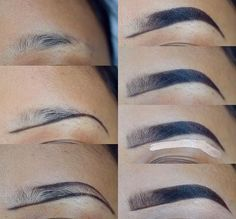 53 Ideas For Makeup Tutorial Brows Make Up – – Eyebrows World Eyebrow Makeup Tips, Makeup 101, Skin Makeup, Makeup Inspo, Eyeshadow Makeup, Beauty Makeup, Makeup Looks, Makeup Eyebrows, Eye Brows