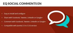 With the plugin EQ Social comment, visitors can comment all your content,…by using their social with Facebook, Twitter,...