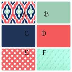 Hey, I found this really awesome Etsy listing at https://www.etsy.com/listing/188029048/navy-mint-and-coral-ikat-crib-bedding