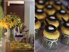 Inspiração do dia: chá de cozinha azul e amarelo! |