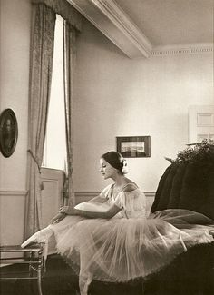 Black and white ballet photograph. <3