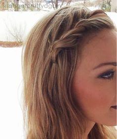Pulled Back Hairstyles, Twist Braid Hairstyles, Down Hairstyles, Summer Hairstyles, Hairdos, Girl Hairstyles, Hair Twist Styles, Front Hair Styles, Medium Hair Styles