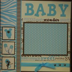 images of baby scrapbook pages | Baby Page Kits