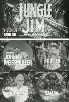johnny weismuller jungle jim | JUNGLE JIM 1955-56 TV SERIES !