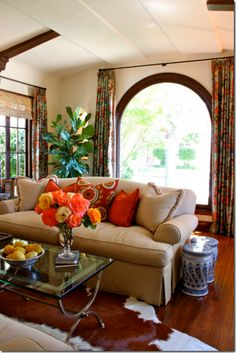 california bohemian style living room