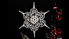 How To Crochet Snowflake #4