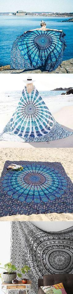 $14.26 Bohemian Style Thin Chiffon Beach Yoga Towel