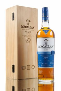 Macallan 30 year old Fine Oak, triple cask matured in carefully selected European and American oak casks. Aged releases such as this from Macallan Distillery have become rather rare and hard to find as of late...
