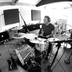 he looks so happy when he's playing drums it makes me so  : D