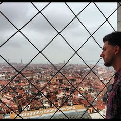 Jesse overlooking at Venice.