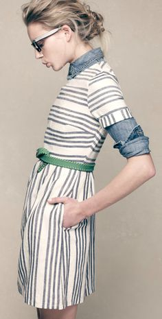 #Madewell #stripes #denim #collection