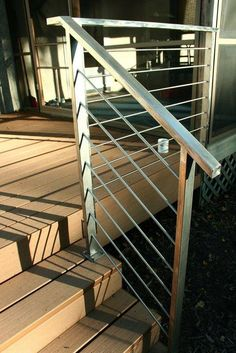 Simple Stainless Steel Deck Rails Add A Modern Touch To Outdoor Decor Handrail