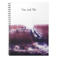 Romantic Gift of Dutch Winter Landscape Photograph Notebook