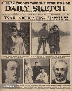 "a-romanov-tribute: ""An English newspaper reporting the abdication of Tsar Nicholas II """