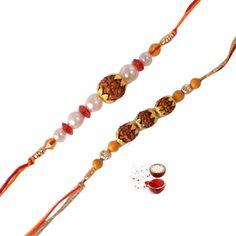 Two Rudraksha Rakhi - Buy Fresh Two Rudraksha Rakhi Online at Lowest Price   Giftalove.com