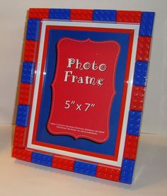 Lego photo frames for little Lego lovers bedroom walls boy