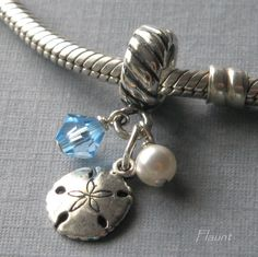 Sand Dollar bead for European charm by FlauntDesignsJewelry, $18.00