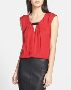 This is a cute keyhole top for work.