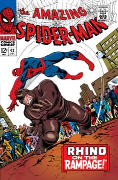 The Amazing Spider-Man #43 - December 1966 cover by John Romita Sr