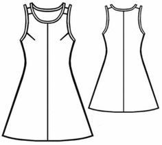 Cute Piped Summer Dress - Sz. S-XL Free Pattern