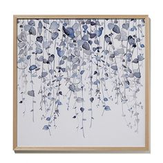 Watercolour Foliage Print String of Hearts