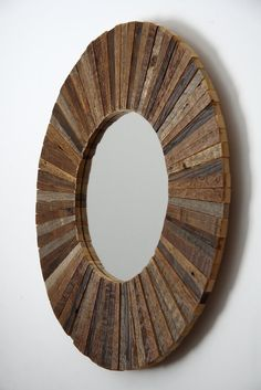 Diy Stained Wood Shim Starburst Mirror Home Figuras