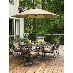 Country Living Fair Oaks 7pc Cast Dining   High Customer Rating   Sears