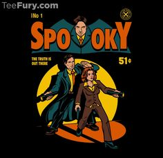 Spooky Comic by harebrained - Shirt sold on July 10th at http://teefury.com - More by the artist at https://www.facebook.com/harebraineddesign