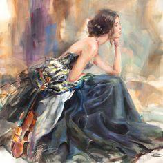 """Pearl Bracelet"" by Anna Razumovskaya | WindFineArtGallery.com"