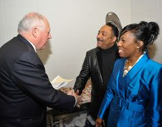 Governor Pat Quinn (left), Mercer, Diversity and Inclusion Consulting Principal Tyronne Stoudemire (center), Women's Business Development Director Carol Bell (right)