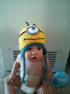 Despicable Me Minion Crochet Beanie on Etsy, $12.00