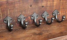 5 x Cast Iron Coat Hooks Decorative Antique by YesterHomeUK