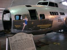 Boeing B-17F-10-BO Flying Fortress 41-24485, the Memphis Belle, under restoration at the National Museum of the United States Air Force, Wright-Patterson Air Force Base, Dayton, Ohio. Museum staff tried to save the original markings on the bomber.(U.S. Air Force)