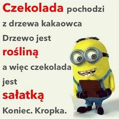 Cala prawda o czekoladzie. Weekend Humor, Funny Mems, Just Smile, Wtf Funny, Minions, Positive Quotes, Funny Animals, Haha, Funny Pictures