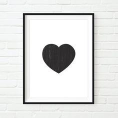 Heart Love Printable Wall Art Instant Download von spottedpixel Printable Wall Art, Printables, Celestial, Poster, Bags, Heart, Handbags, Print Templates, Billboard