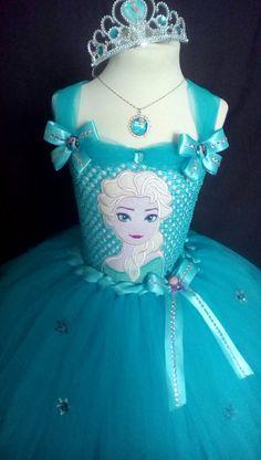 Tutu princesa Elsa vestido inspirado en congelados